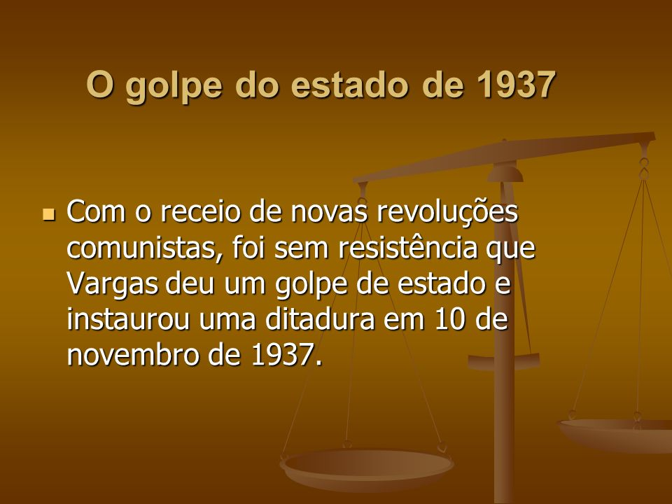O golpe do estado de 1937