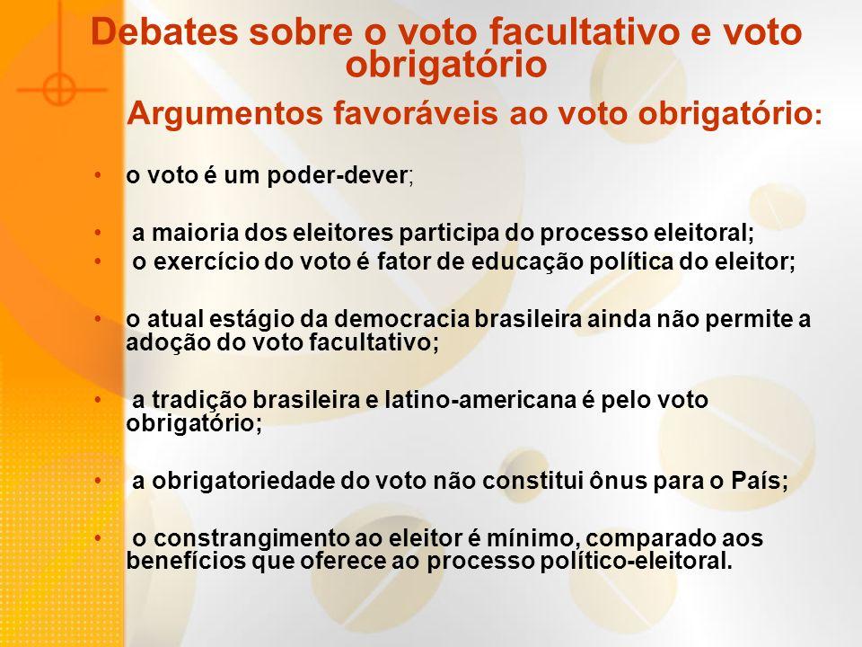 Debates sobre o voto facultativo e voto obrigatório