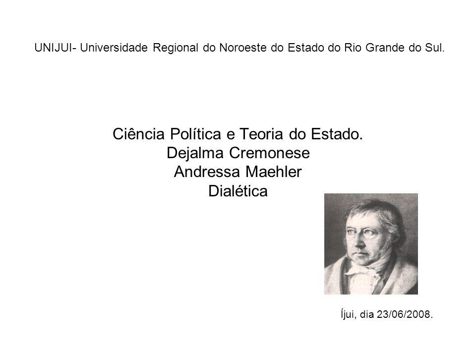 Ciência Política e Teoria do Estado.