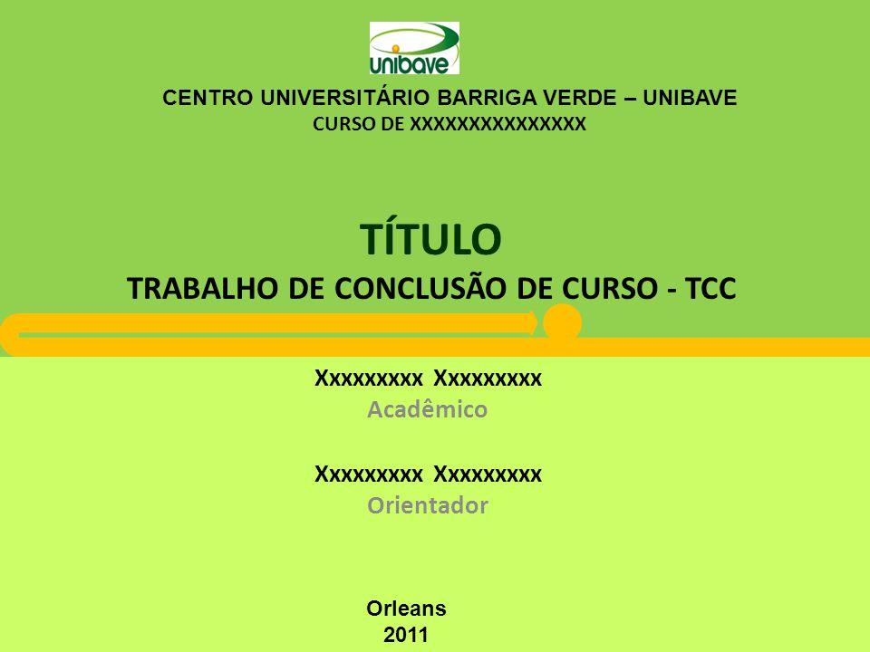 TÍTULO TRABALHO DE CONCLUSÃO DE CURSO - TCC