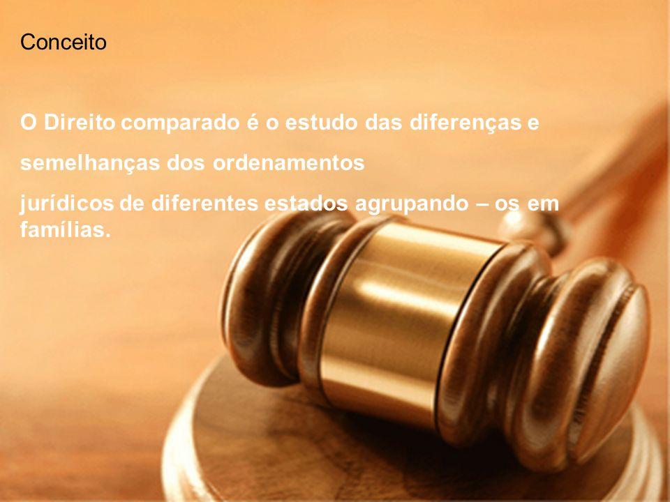 Conceito O Direito comparado é o estudo das diferenças e.