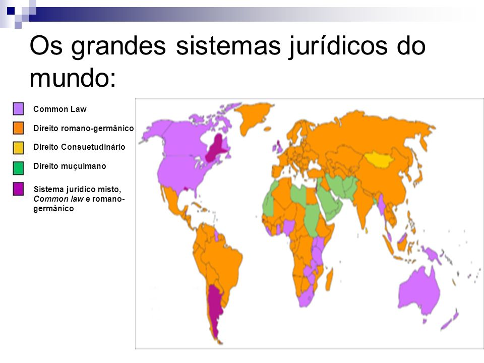 Os grandes sistemas jurídicos do mundo: