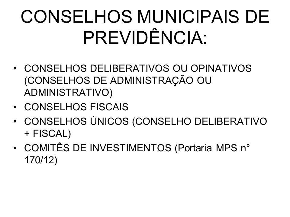 CONSELHOS MUNICIPAIS DE PREVIDÊNCIA: