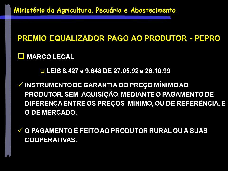 PREMIO EQUALIZADOR PAGO AO PRODUTOR - PEPRO MARCO LEGAL