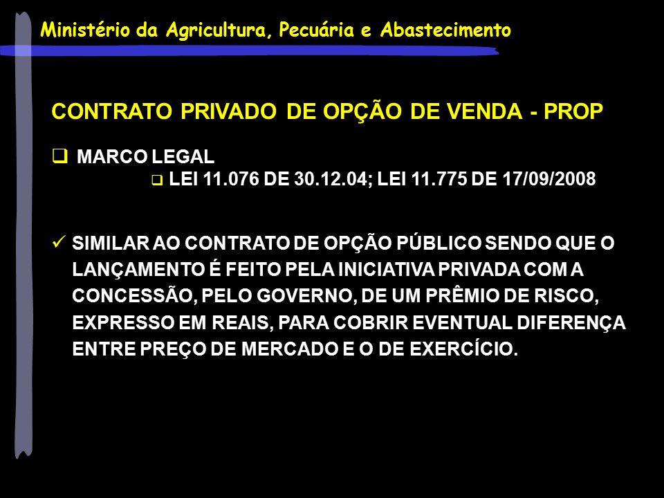 CONTRATO PRIVADO DE OPÇÃO DE VENDA - PROP