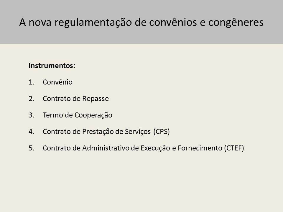 A nova regulamentação de convênios e congêneres