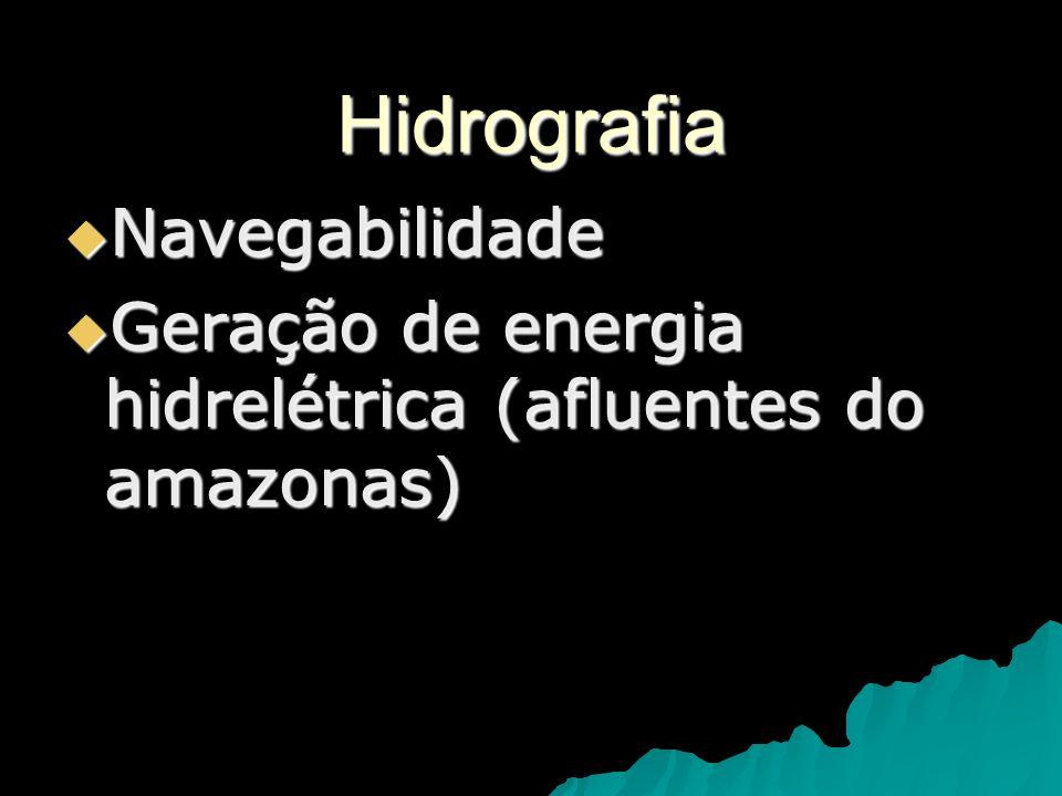 Hidrografia Navegabilidade