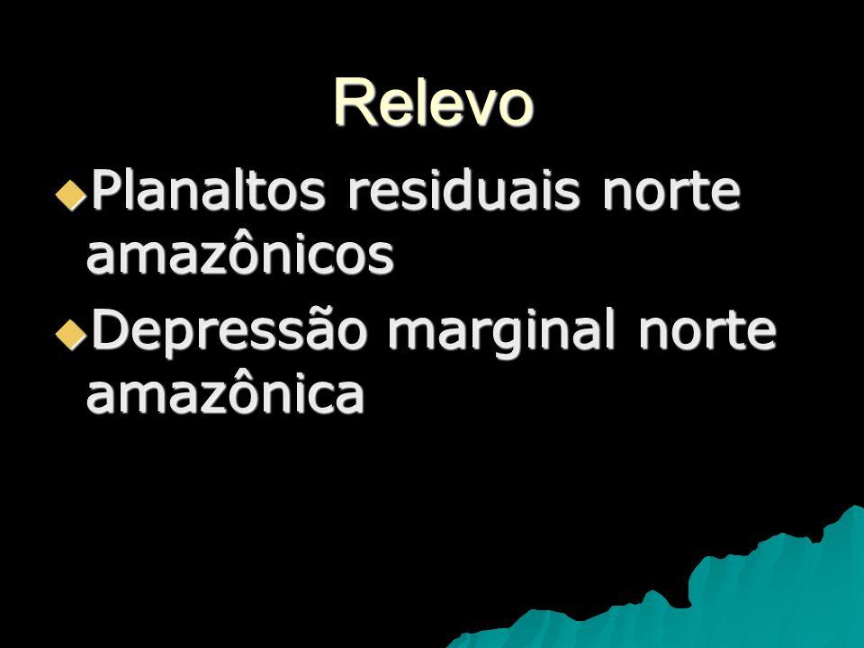 Relevo Planaltos residuais norte amazônicos