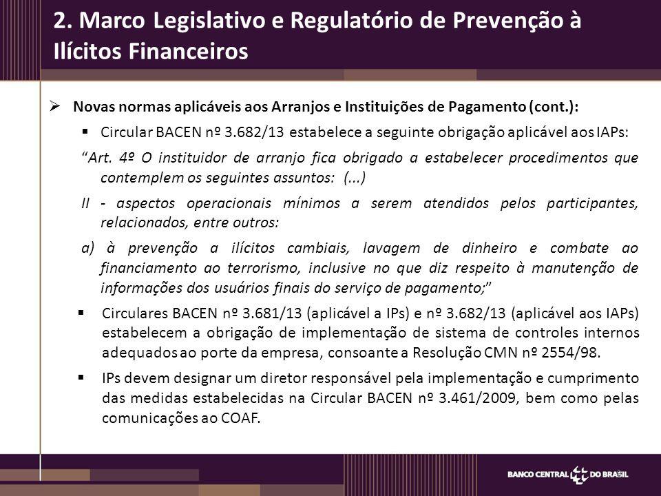 2. Marco Legislativo e Regulatório de Prevenção à Ilícitos Financeiros