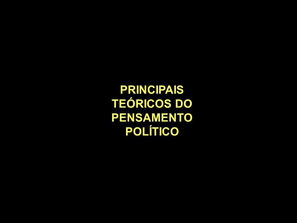 PRINCIPAIS TEÓRICOS DO PENSAMENTO POLÍTICO