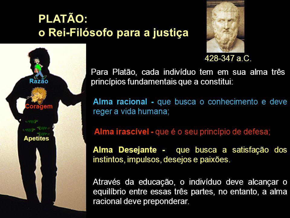 o Rei-Filósofo para a justiça