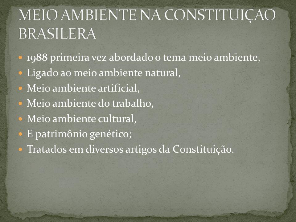 MEIO AMBIENTE NA CONSTITUIÇAO BRASILERA