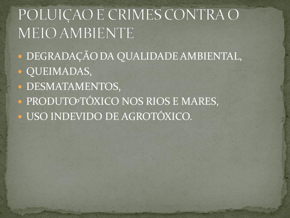 POLUIÇAO E CRIMES CONTRA O MEIO AMBIENTE