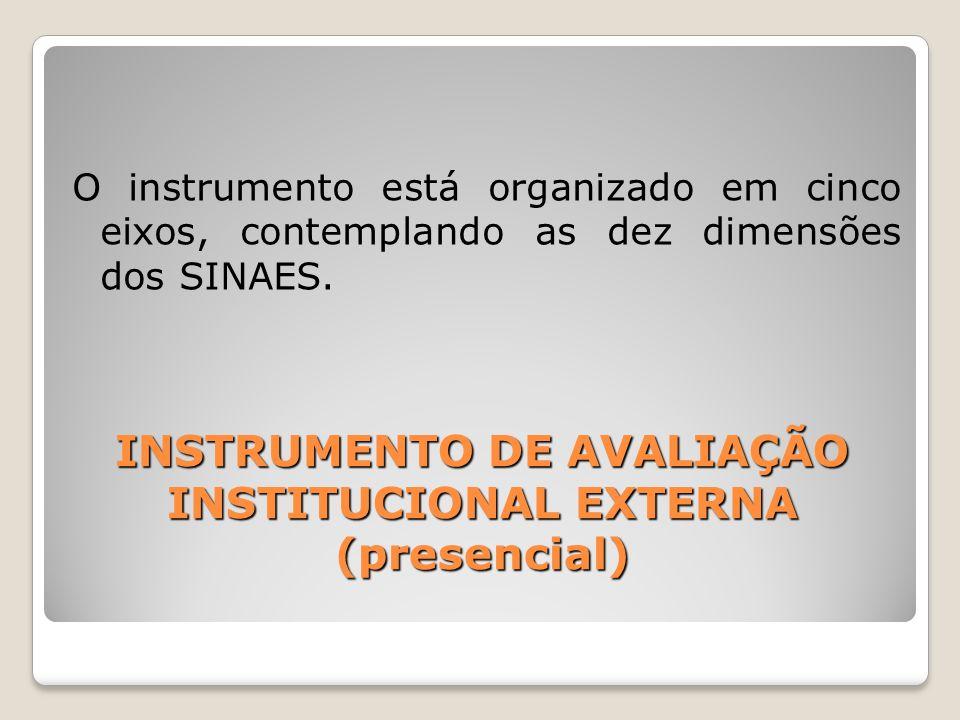 INSTRUMENTO DE AVALIAÇÃO INSTITUCIONAL EXTERNA (presencial)