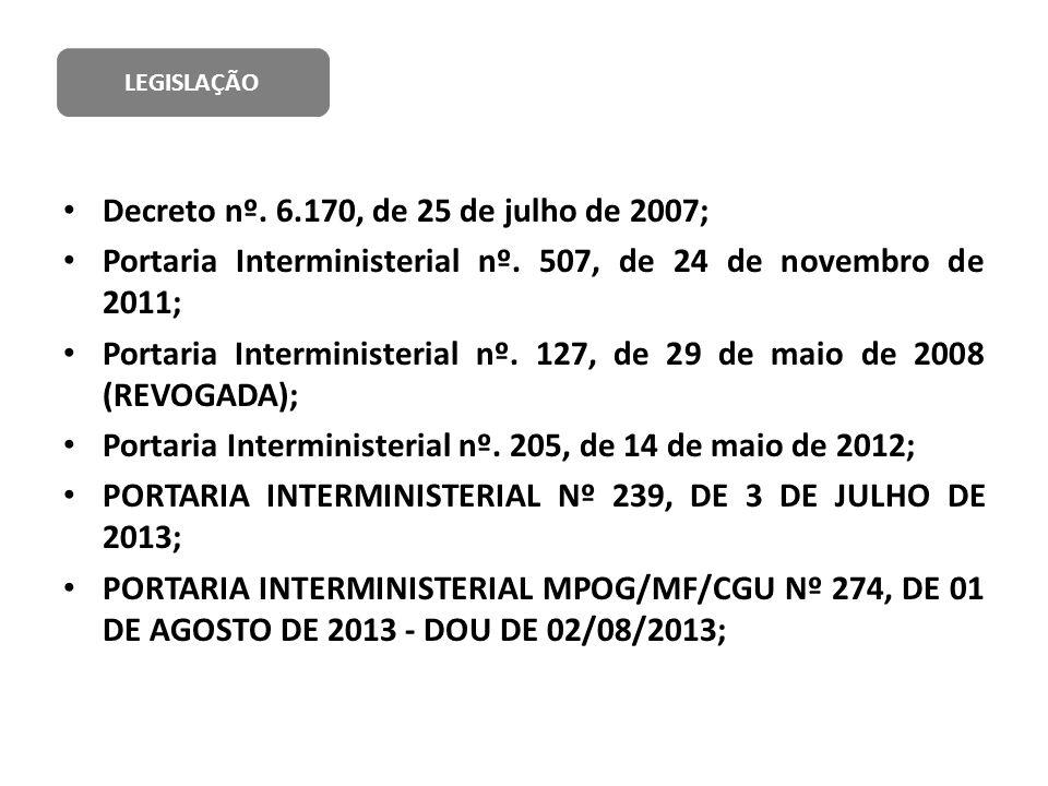 Decreto nº. 6.170, de 25 de julho de 2007;
