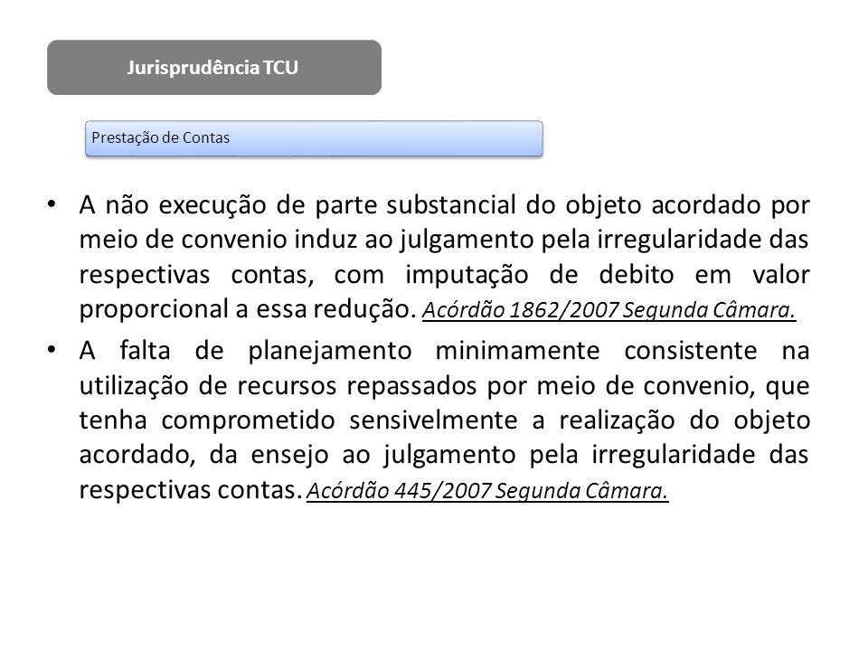 Jurisprudência TCU Prestação de Contas.