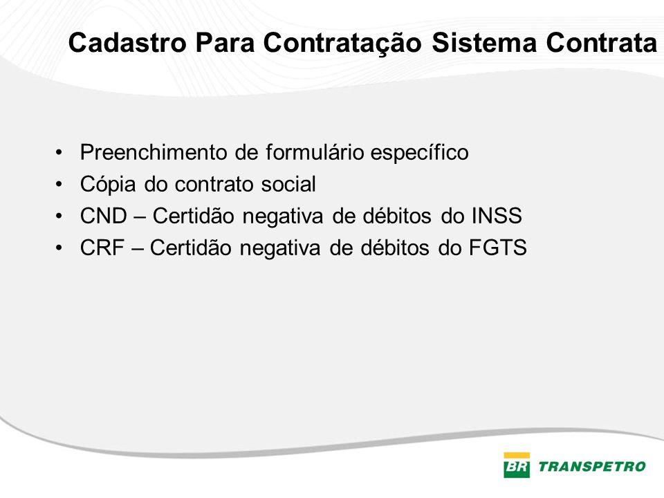 Cadastro Para Contratação Sistema Contrata