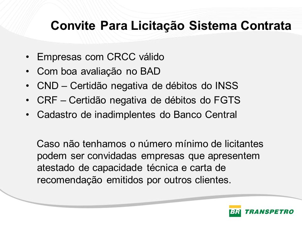 Convite Para Licitação Sistema Contrata