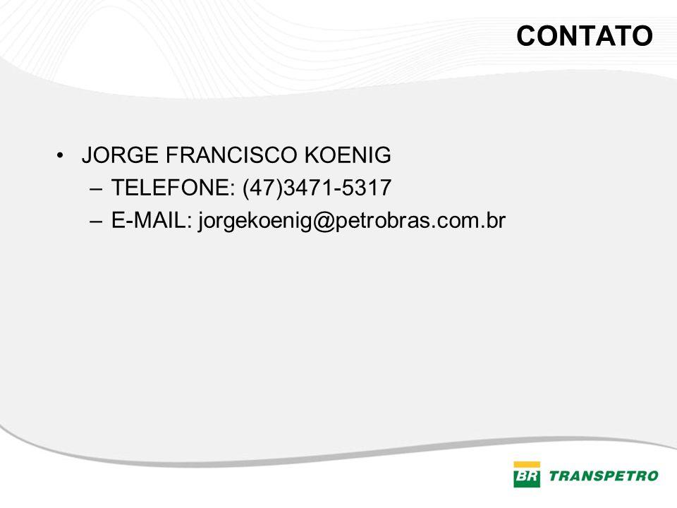 CONTATO JORGE FRANCISCO KOENIG TELEFONE: (47)3471-5317