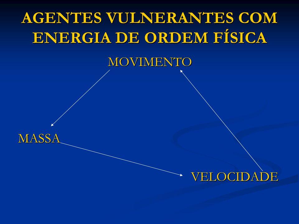 AGENTES VULNERANTES COM ENERGIA DE ORDEM FÍSICA