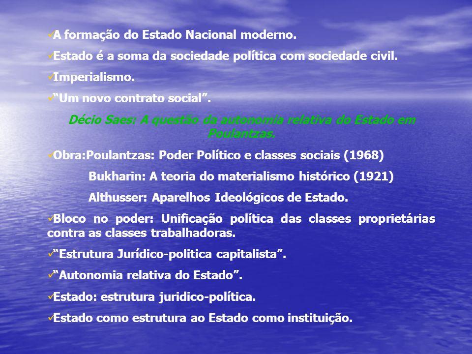 Décio Saes: A questão da autonomia relativa do Estado em Poulantzas.