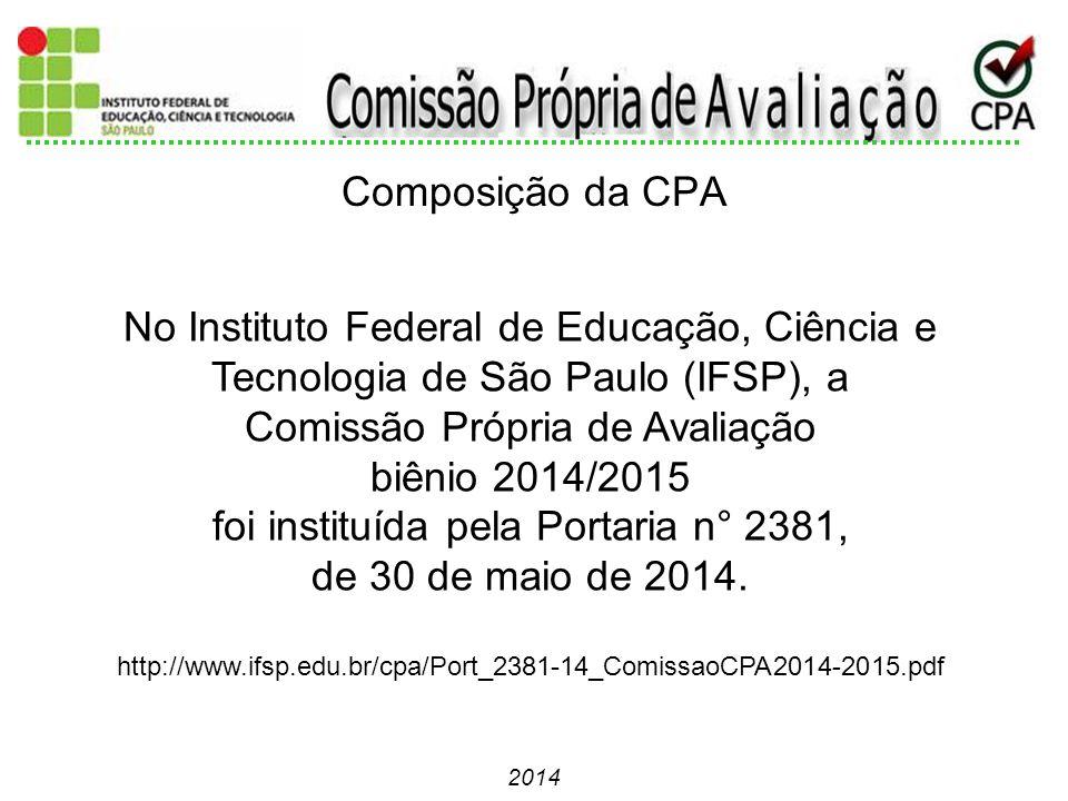 Comissão Própria de Avaliação biênio 2014/2015