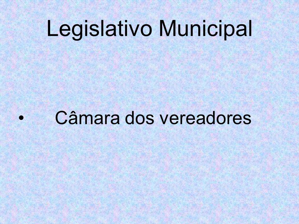Legislativo Municipal