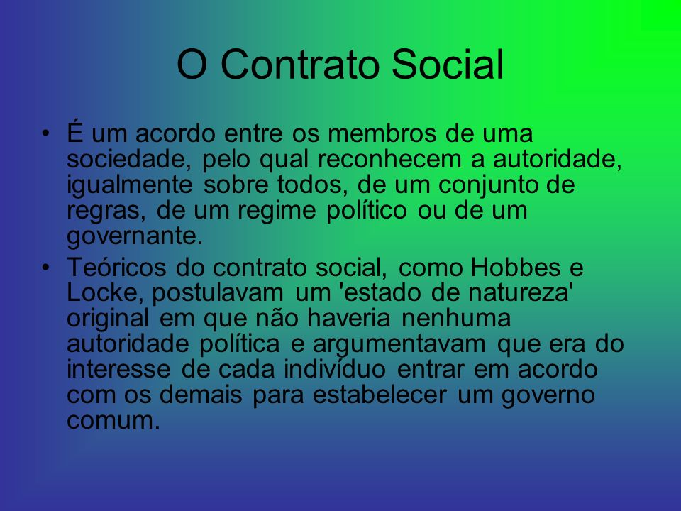 O Contrato Social