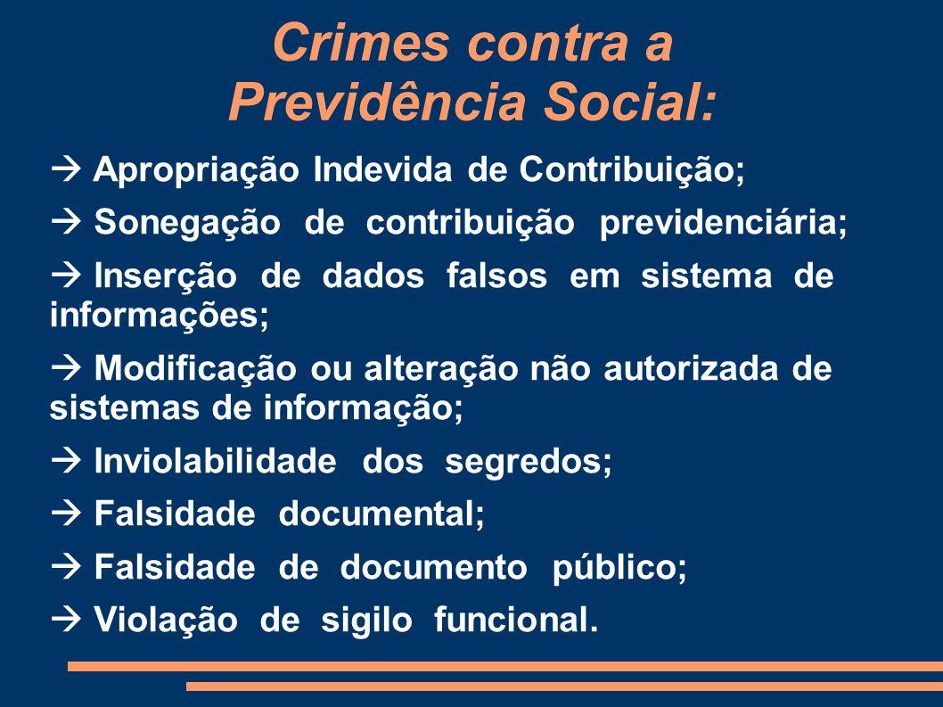 Crimes contra a Previdência Social: