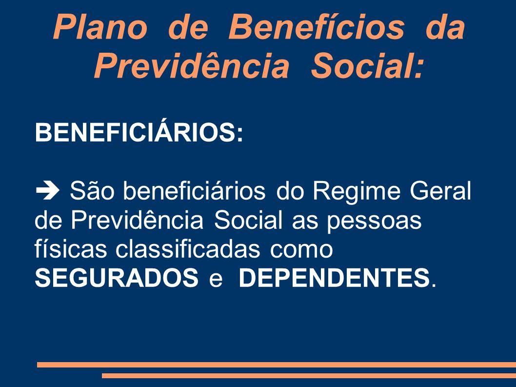 Plano de Benefícios da Previdência Social: