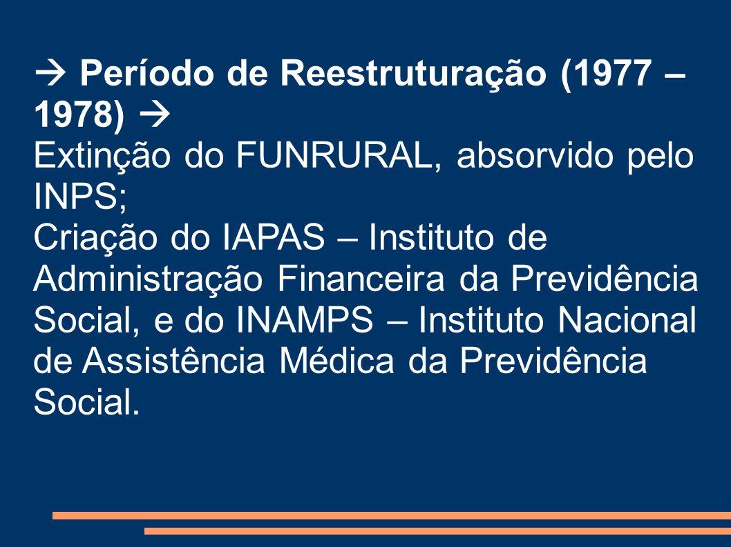  Período de Reestruturação (1977 – 1978) 