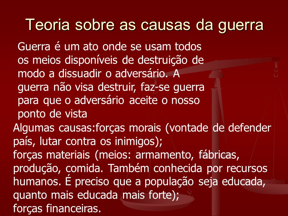 Teoria sobre as causas da guerra