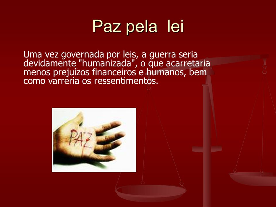 Paz pela lei