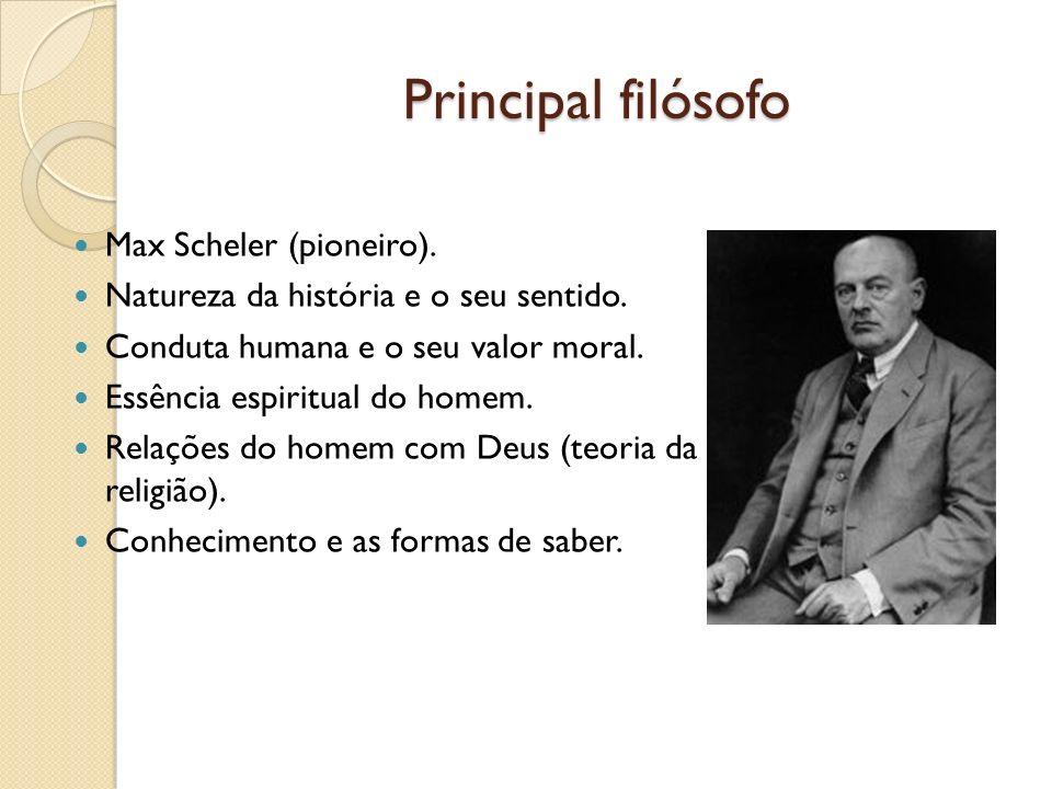 Principal filósofo Max Scheler (pioneiro).