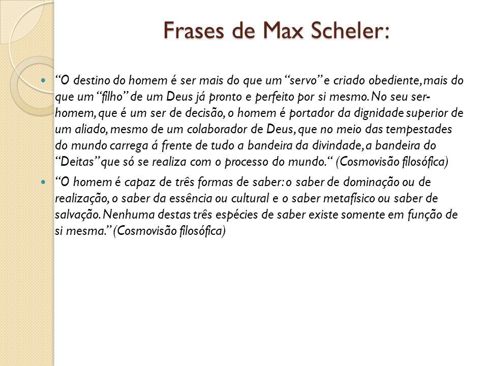 Frases de Max Scheler: