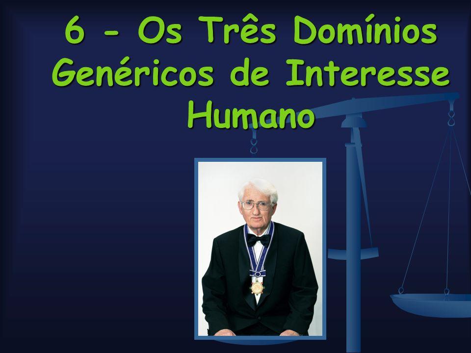 6 - Os Três Domínios Genéricos de Interesse Humano