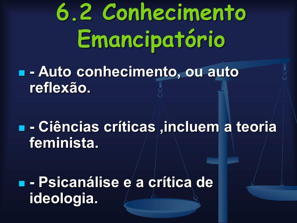 6.2 Conhecimento Emancipatório