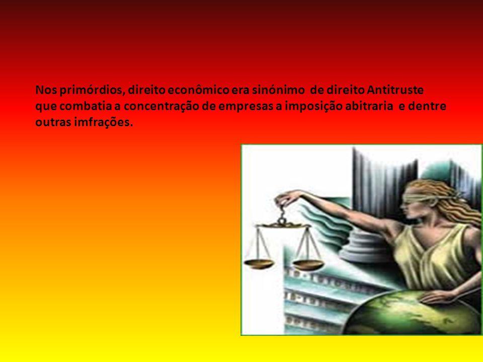Nos primórdios, direito econômico era sinónimo de direito Antitruste