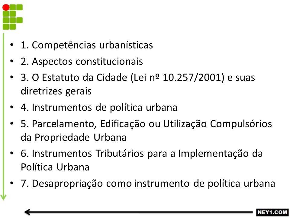 1. Competências urbanísticas