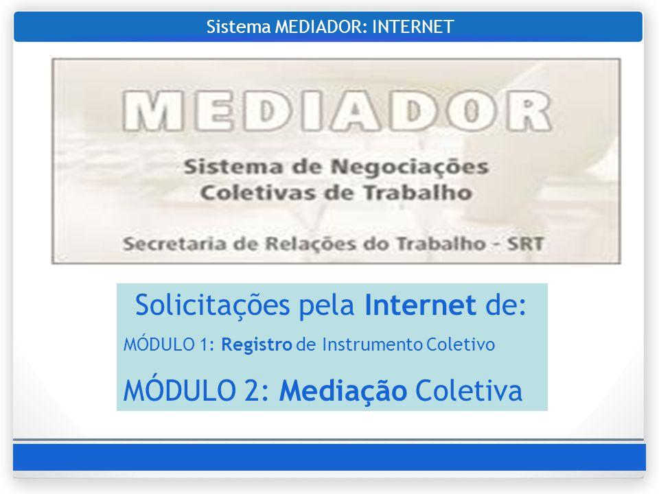 Sistema MEDIADOR: INTERNET