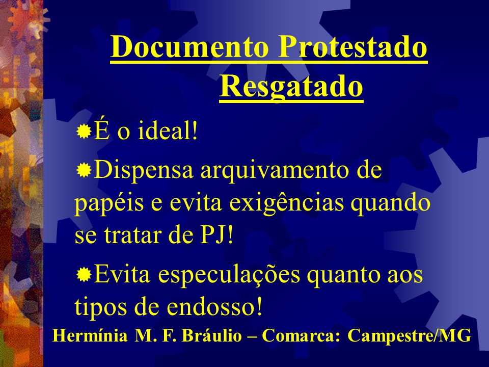 Documento Protestado Resgatado