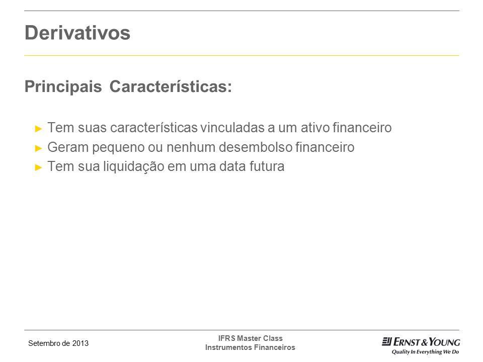 Derivativos Principais Características: