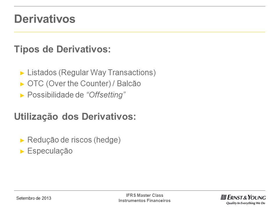Derivativos Tipos de Derivativos: Utilização dos Derivativos: