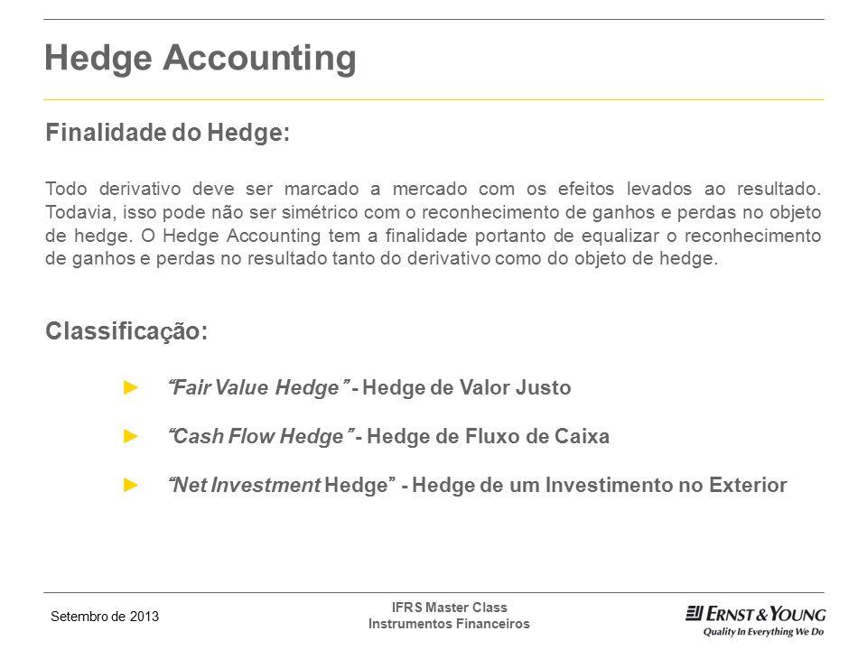 Hedge Accounting Finalidade do Hedge: Classificação: