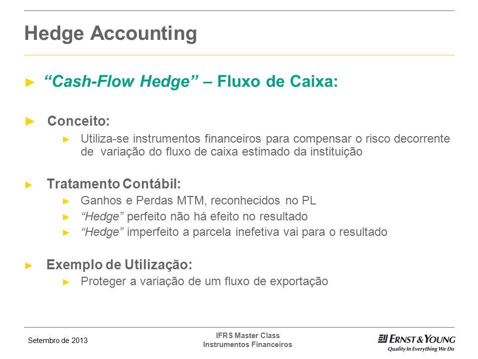 Hedge Accounting Cash-Flow Hedge – Fluxo de Caixa: Conceito: