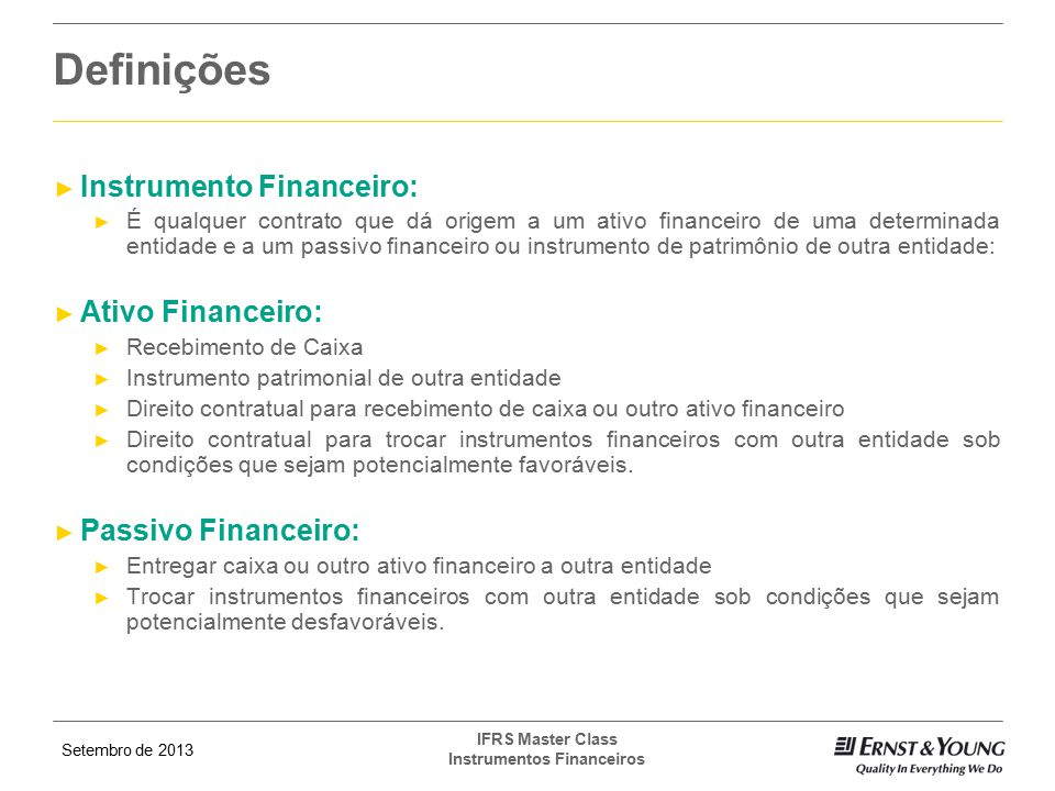 Instrumento Financeiro: