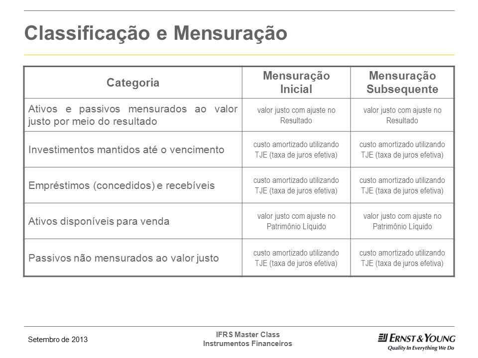 Classificação e Mensuração