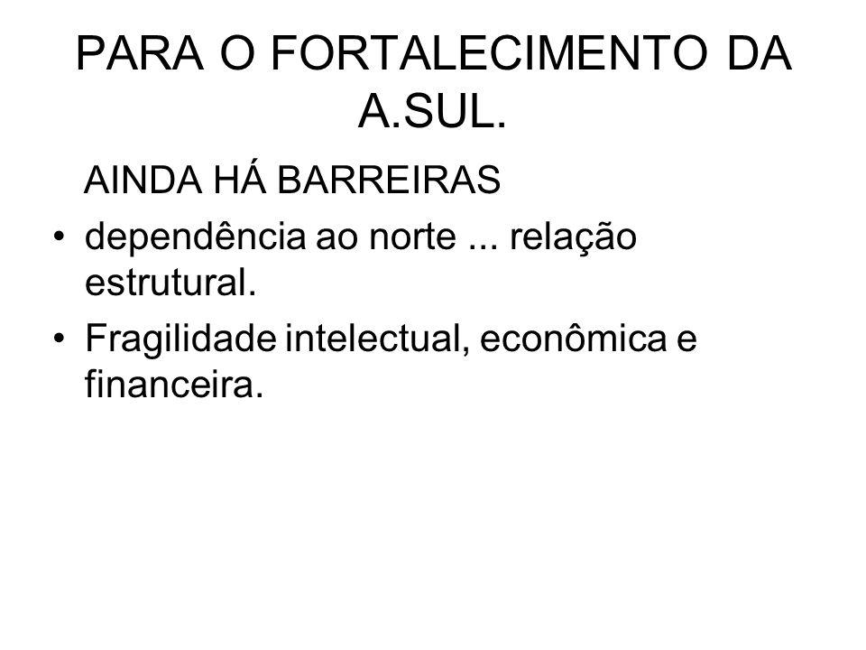 PARA O FORTALECIMENTO DA A.SUL.