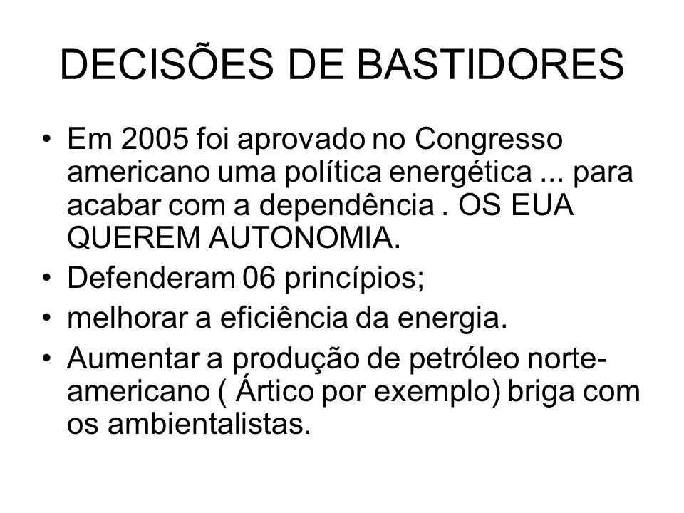 DECISÕES DE BASTIDORES