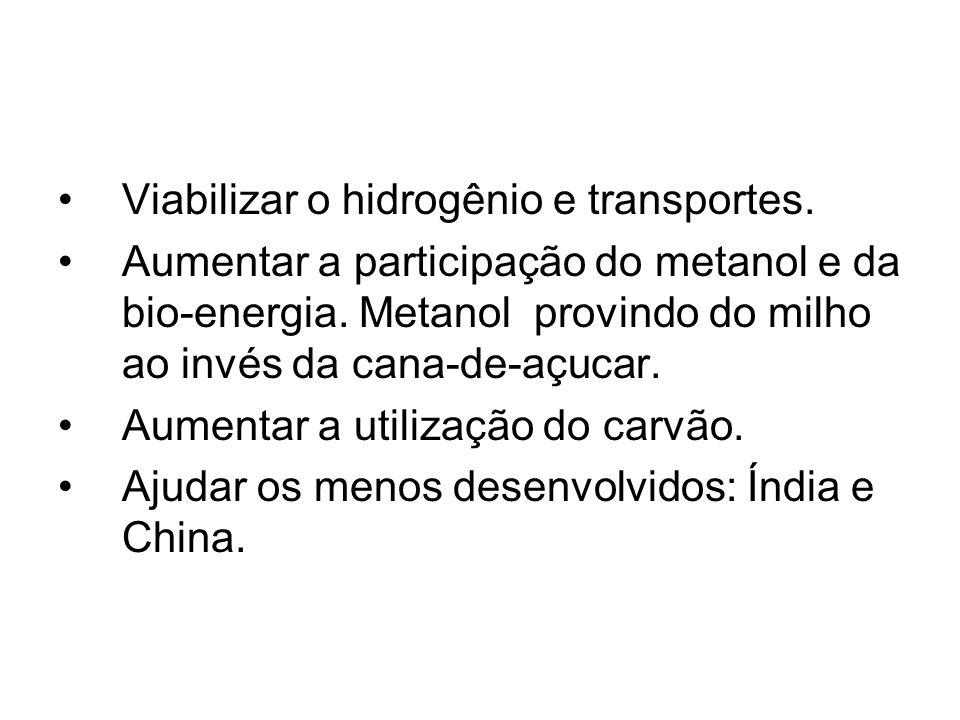 Viabilizar o hidrogênio e transportes.